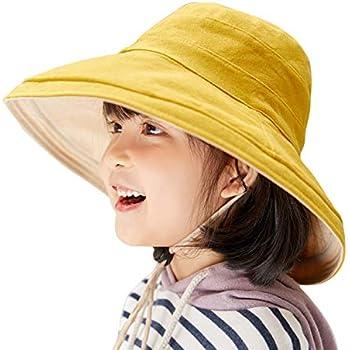 5ccea75f5e1a2 (ハバー)Habor ベビー用ハット つば広帽子 キャップ キッズ 日よけ帽子 子供サンバイザー 女の子 男の子 紫外線 UVカット ワイヤー付き  取り外すあご紐 5色