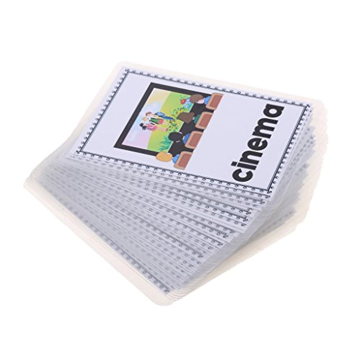 シリング非常に君主制赤ちゃん 子供 早期 英語学習 語彙+画像 勉強カード ゲーム 教育玩具 幼稚園 知育 フラッシュカード  全6種類 - 建物のサイト
