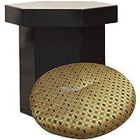 新型六角回転椅子 黒色 輪宝なし 座布団「四方花つくし」付き 高さ42cm 日本製 寺院用椅子 寺院用仏具