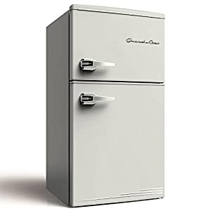 Grand-Line 冷蔵庫 90L 2ドア 直冷式 冷凍冷蔵庫 レトロホワイト LARD-90LW