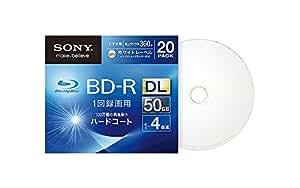 SONY ビデオ用BD-R 追記型 片面2層50GB 4倍速 ホワイトプリンタブル 20枚パック 20BNR2VGPS4