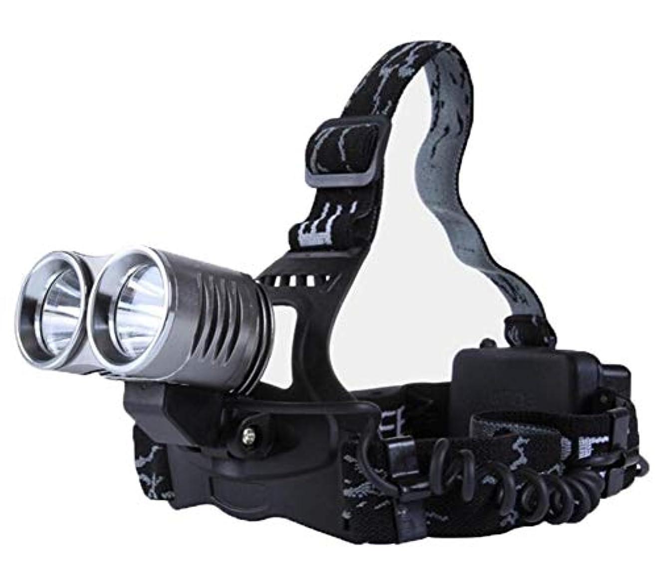 突撃縞模様のパラメータヘッドライト,屋外多機能登山スーパーブライト防水フィッシングヘッドライト{AA +}