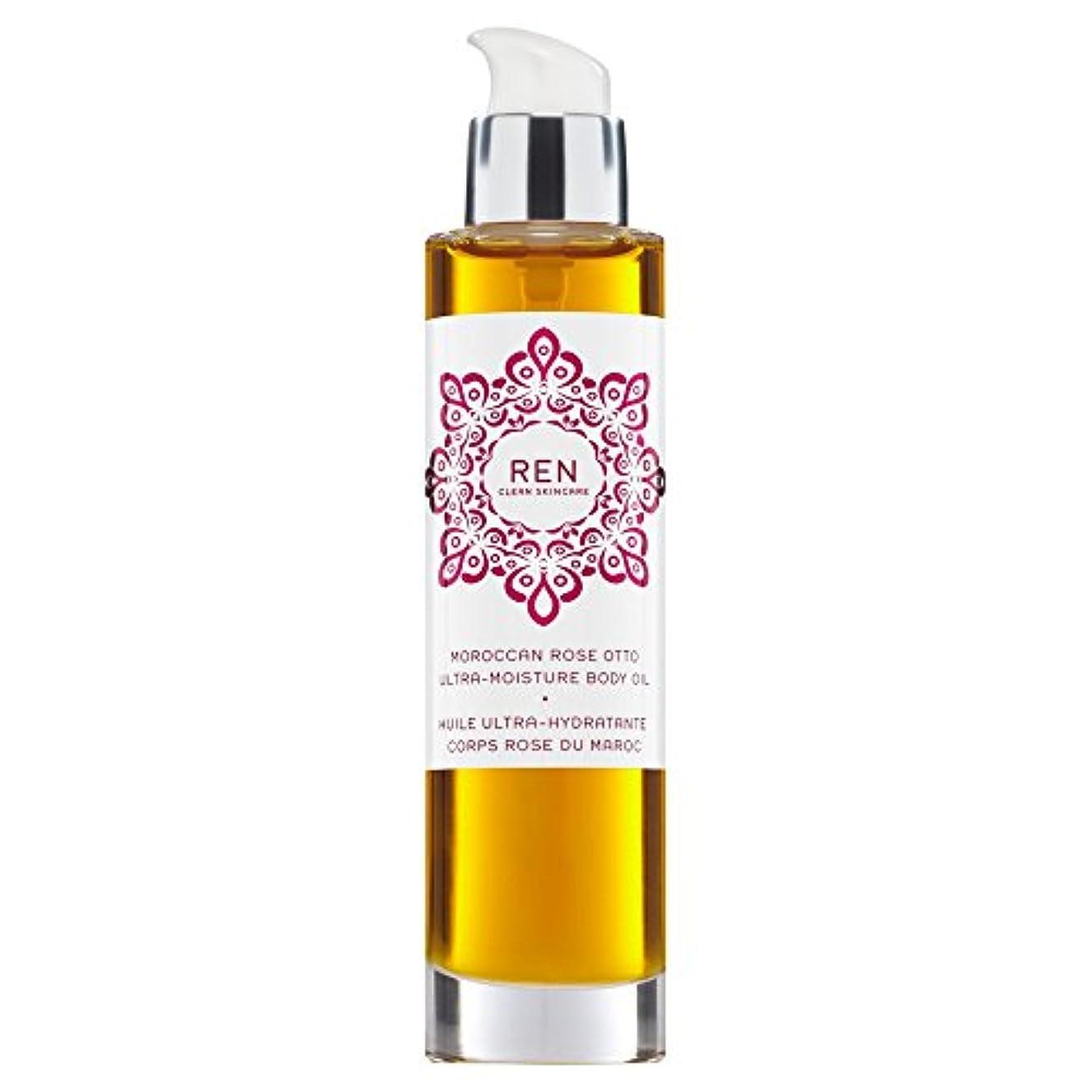 コンベンション呪われた挨拶Renモロッコはオットー超水分ボディオイル100ミリリットルをバラ (REN) (x6) - REN Moroccan Rose Otto Ultra-Moisture Body Oil 100ml (Pack of 6...