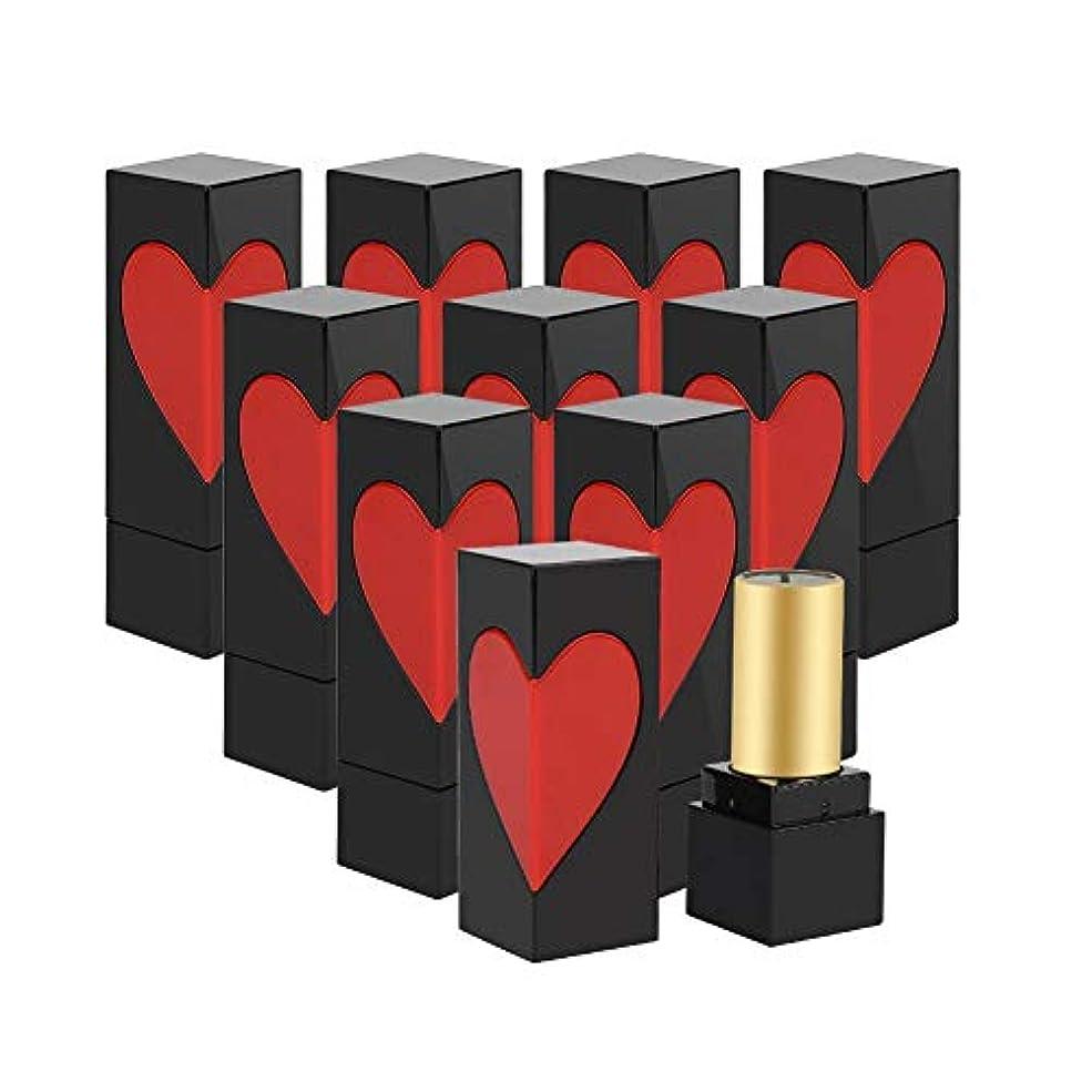 排除無駄赤空口紅チューブ、かわいい 手作りリップスティックコンテナ 美しい外観 プラスチック製 口紅チューブ用 DIY用 2スタイル選べる(10枚)