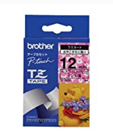 BROTHER TZ-DE31 プーさんクリアピンク/黒文字 12mm