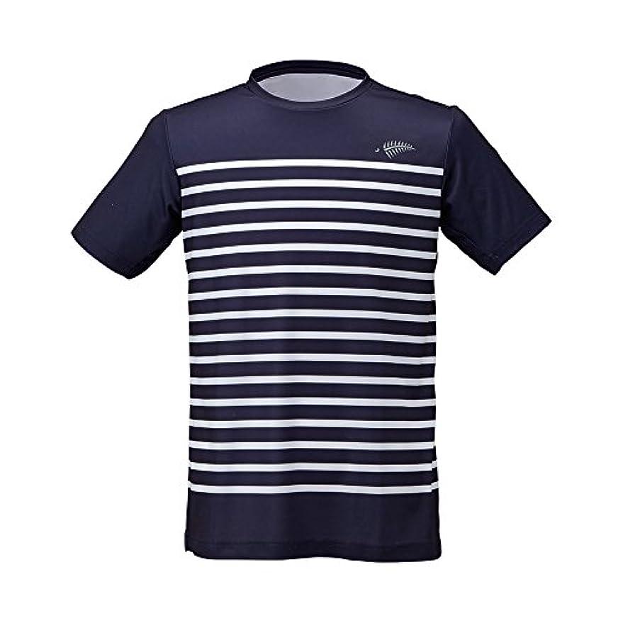 しかしヒット規制フリーノット(FREE KNOT) SUNSHADE ボーダーTシャツ ネイビー(80) Lサイズ Y1636-L-80