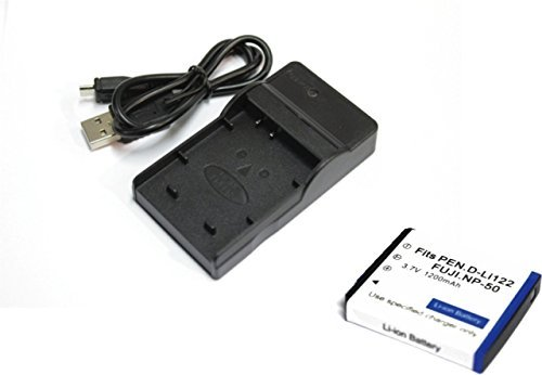 【エーポケ】FUJIFILMフジフィルム  NP-50/D-LI122/D-LI68対応互換バッテリー&USB充電器セット デジカメ バッテリーチャージャールFinePix F50fd F100fd F60fd