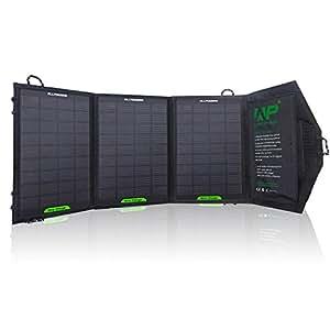 ALLPOWERS モバイルソーラーチャージャー12W折畳式防災用充電器iSolar搭載ソーラーパネル