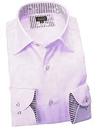 RSD680-306 (スタイルワークス) メンズ長袖ワイシャツ ワイドカラー | 紫
