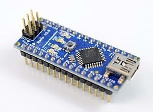Arduino Nano v3.0 compatible (ATMEGA328P) ピンヘッダ実装済み