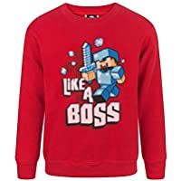 Minecraft Like A Boss Boy's Sweatshirt