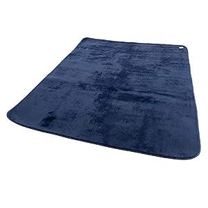 mofua ( モフア ) ラグ うっとりなめらかパフ 低反発 185×185cm ( 約2畳 ) ネイビー 55863607
