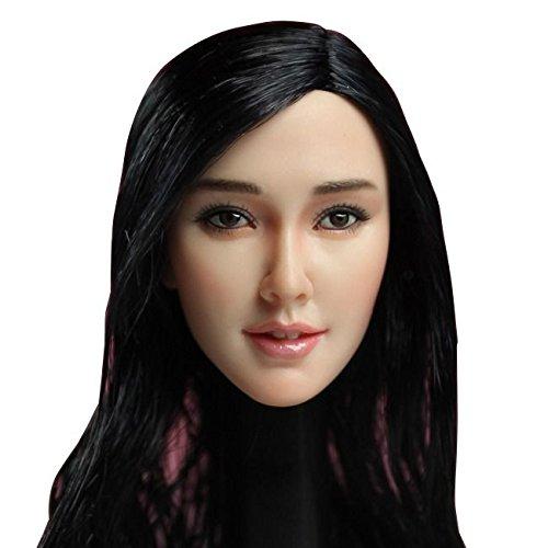 1/6フィギュア用ヘッド/ アジアン フィメール 黒髪 1/6 ヘッド SDH001-Aの詳細を見る