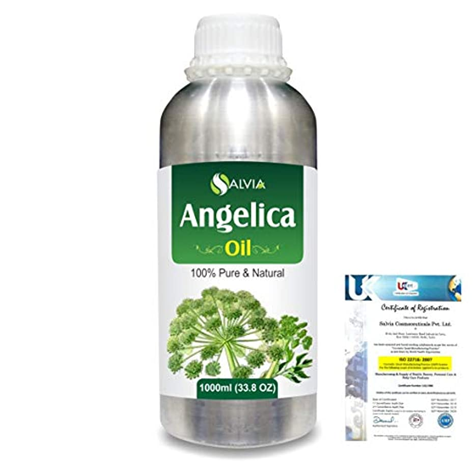 スラッシュ眼やるAngelica (Angelica archangelica) 100% Natural Pure Essential Oil 1000ml/33.8fl.oz.