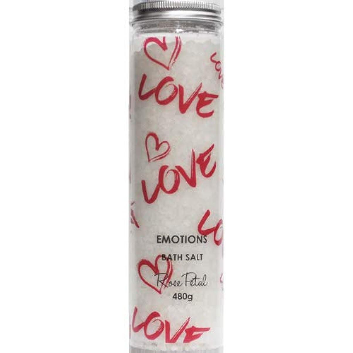 バレルセットアップラフ三和トレーディング EMOTIONS エモーション Fragranced Bath Salts バスソルト Love ラブ(Rose Petal ローズペタル)