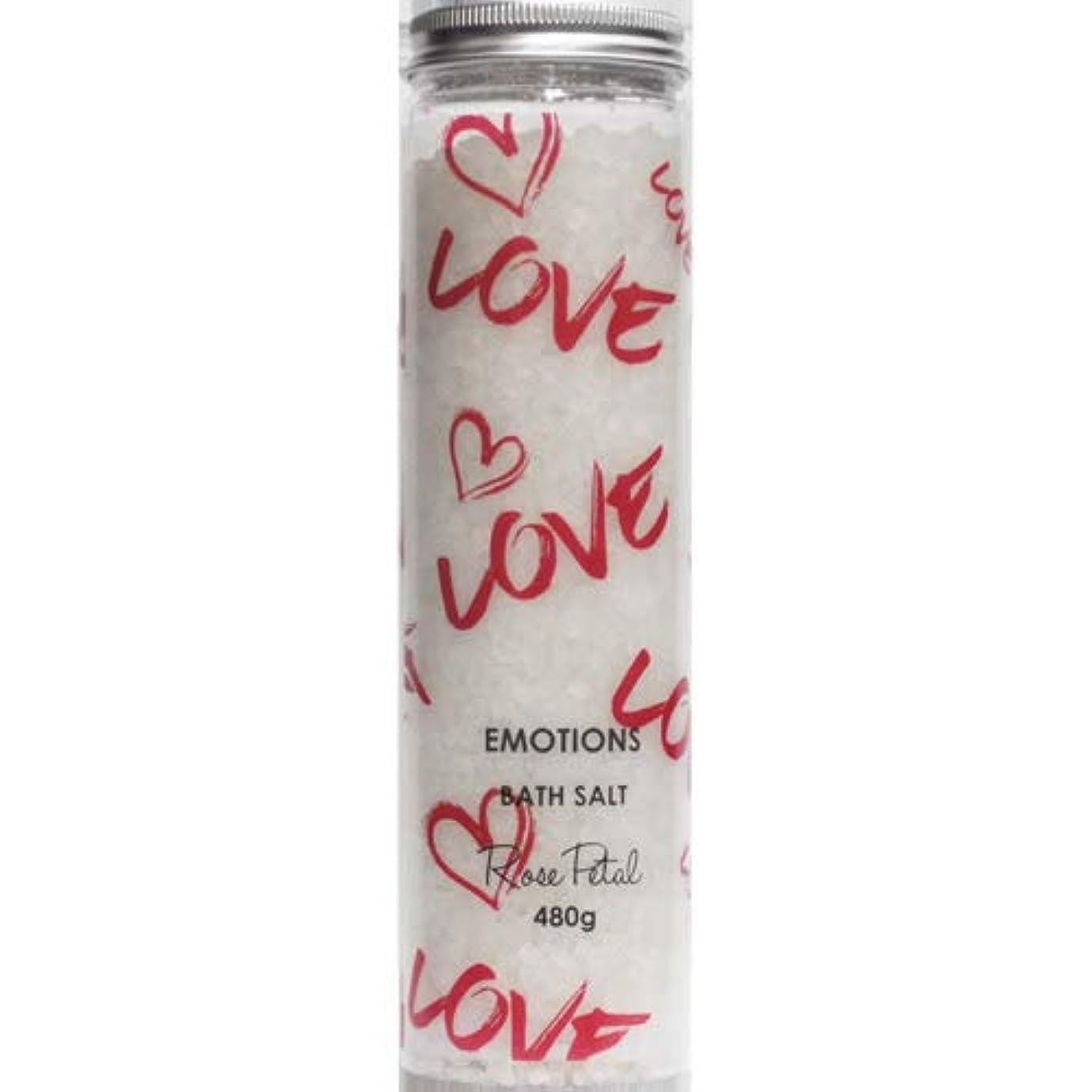 十分精算クライマックス三和トレーディング EMOTIONS エモーション Fragranced Bath Salts バスソルト Love ラブ(Rose Petal ローズペタル)