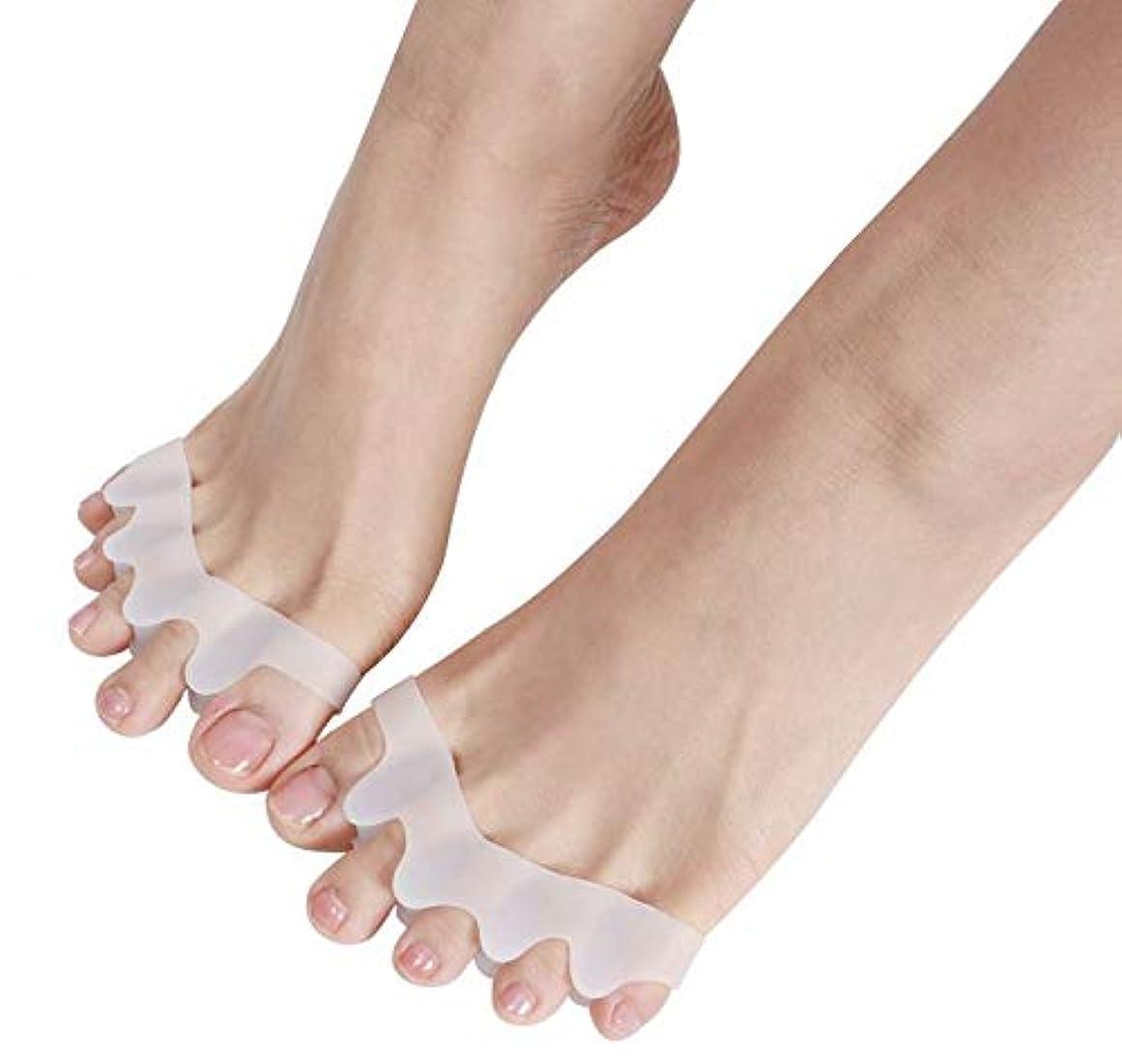 lucrubun 足の痛みの対策 ちゃんとしてますか。 足指矯正パッド 外反母趾 足のゆがみ 男女性兼用 シリコンサポーター 両足セット 足の痛み対策に 足指矯正シリコンサポーター 外反母趾の矯正にも効果的 男女兼用 洗...