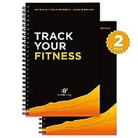 Theワークアウトログブック& Fitness Journal : Designed byエキスパート、withイラストレーション: :トラックジム、進行ボディビルディング&クロスフィット: Sturdyバインディング、厚いページ、およびラミネート加工、UV保護カバー