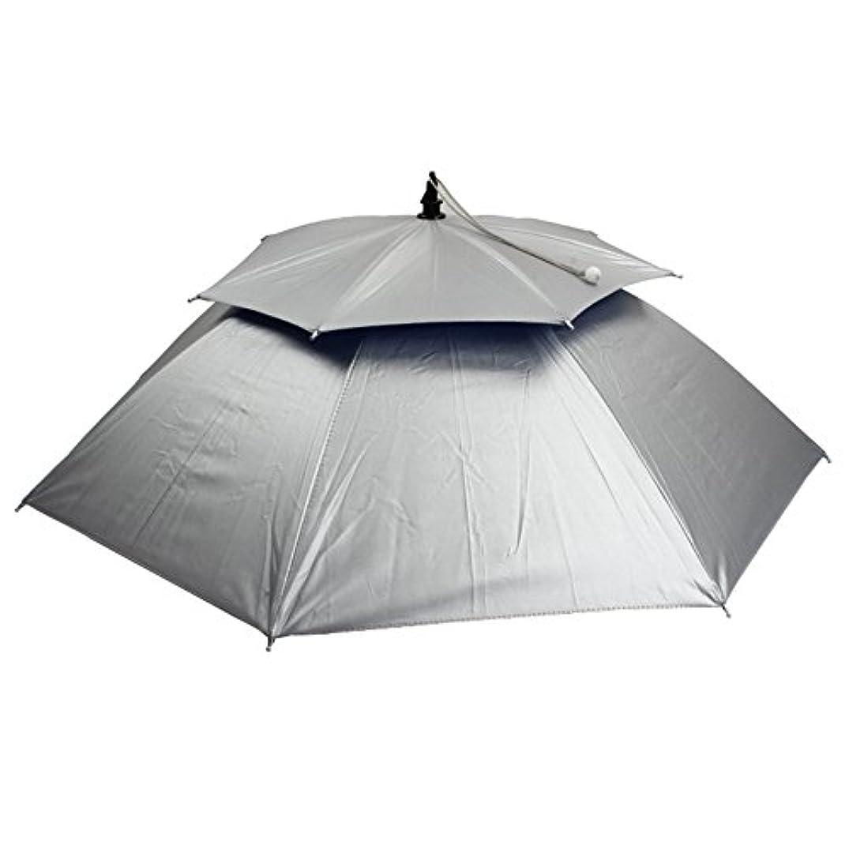 浜辺相対性理論つぶやき釣り傘キャップ、TwoS ダブルデッキ防風ヘッドマウント傘折り畳み釣り傘傘ハットサンハット