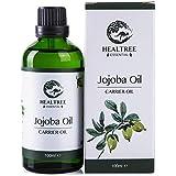 HEALTREE Jojoba Oil 100ml (Virgin Grade Australian 100% Pure & Natural Cold Pressed)   for Skincare, Scalp & Hair Care, Face