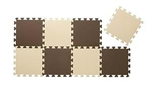 CBジャパン ジョイントマットシリーズ カラーマット 8枚組 チョコレート