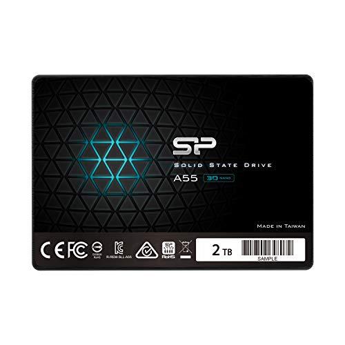 シリコンパワー SSD 2TB 3D NAND採用 SATA3 6Gb s 2.5インチ 7mm PS4 動作確認済 3年保証 A55シリーズ SP002TBSS3A55S25