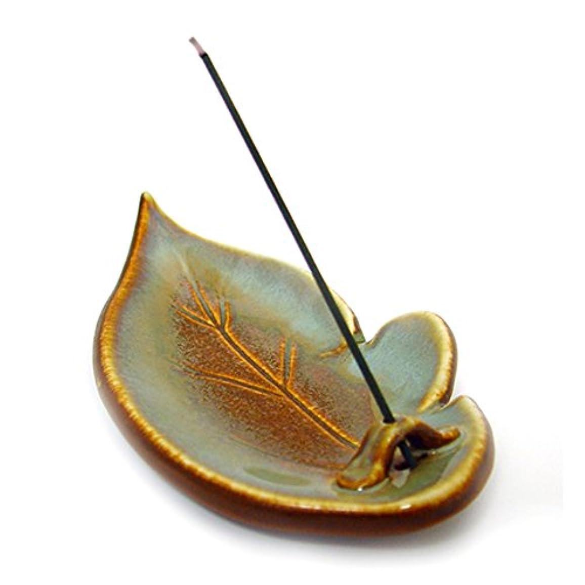 太字八ストッキングShoyeido's Desert Sage Ceramic Leaf Incense Holder by SHOYEIDO [並行輸入品]