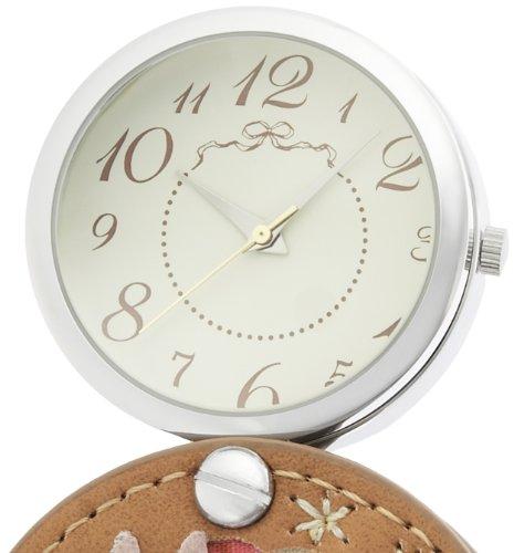 『[フィールドワーク]Fieldwork 懐中時計 拡大鏡付きルーペウォッチ 花うさぎ アナログ表示 ストラップ付き ピンク LW026-2』の3枚目の画像