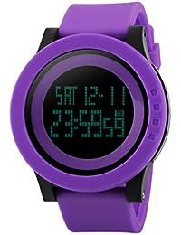 HenMerryレディース 腕時計 ブランド アナログ レディースウォッチ ファッション スポーツ腕時計 蛍光色系   (パープル)