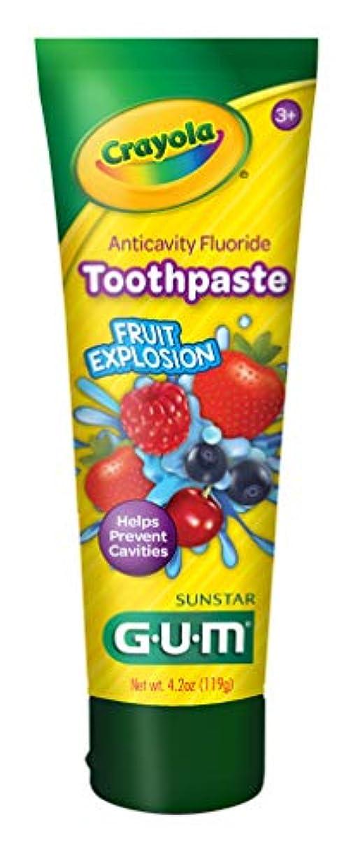 有彩色の消毒剤私たちのものGum クレヨラ虫歯予防歯磨きフッ、熱帯ツイスト4.2オズ