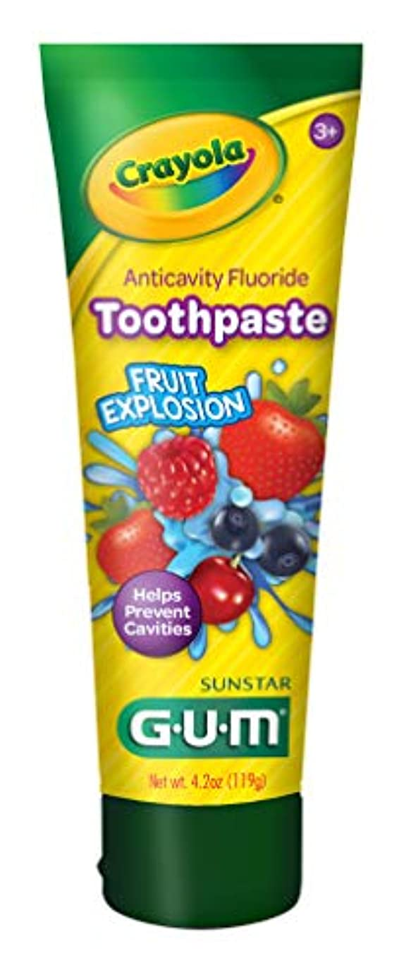 コンパクト絶え間ないピアGum クレヨラ虫歯予防歯磨きフッ、熱帯ツイスト4.2オズ