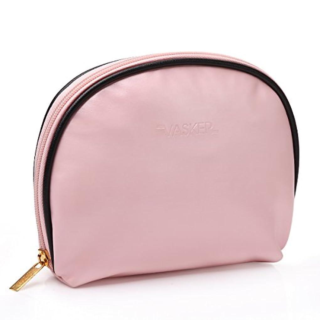 時代振る舞いシダVASKER 化粧ポーチ メイクアップバッグ 高品質 小物入れ レディース用 出張 旅行 ピンク