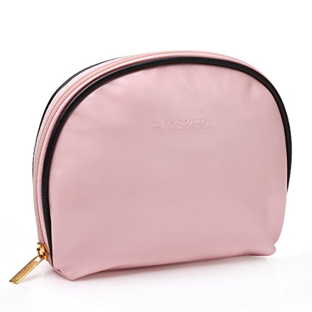 子猫解任検査VASKER メイクアップバッグ 化粧ポーチ 高品質 小物入れ レディース用 ピンク