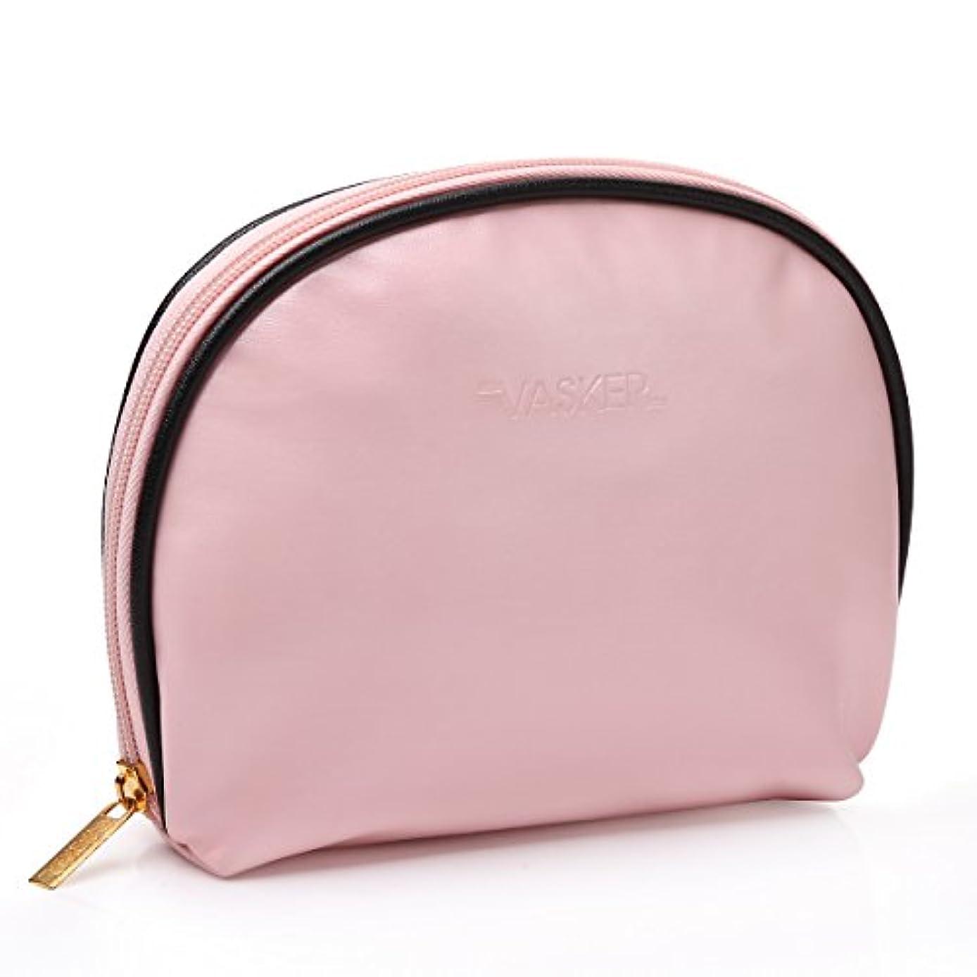 VASKER メイクアップバッグ 化粧ポーチ 高品質 小物入れ レディース用 ピンク