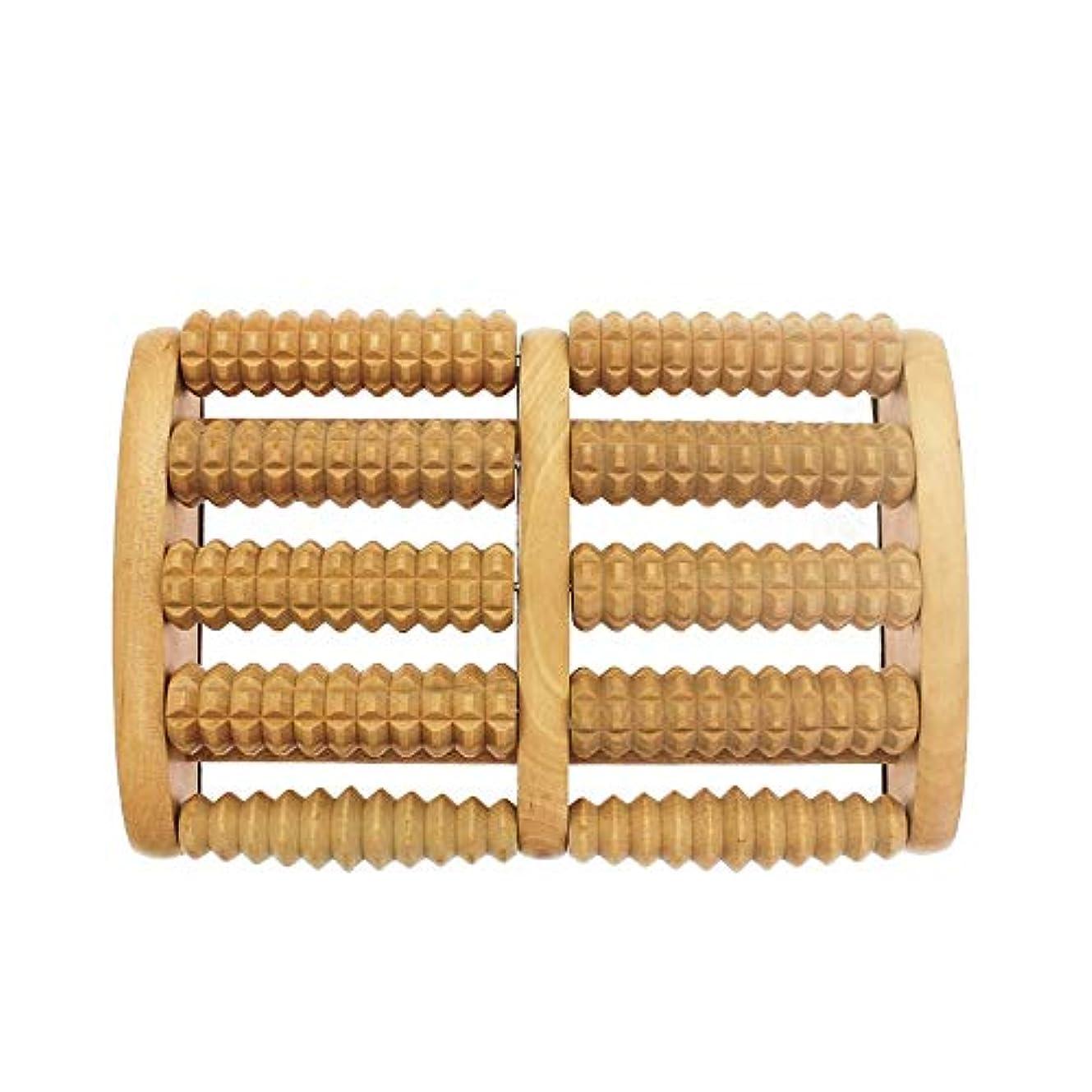 拒絶バナーオーバーフロー足裏マッサージローラー 大型デュアルマッサージローラー多機能木製フットマッサージャー人間工学に基づいたデザインフットフットマッサージローラー 軽量で使いやすく、足の痛みを和らげます (Color : As picture, Size : 27x18x5.5cm)