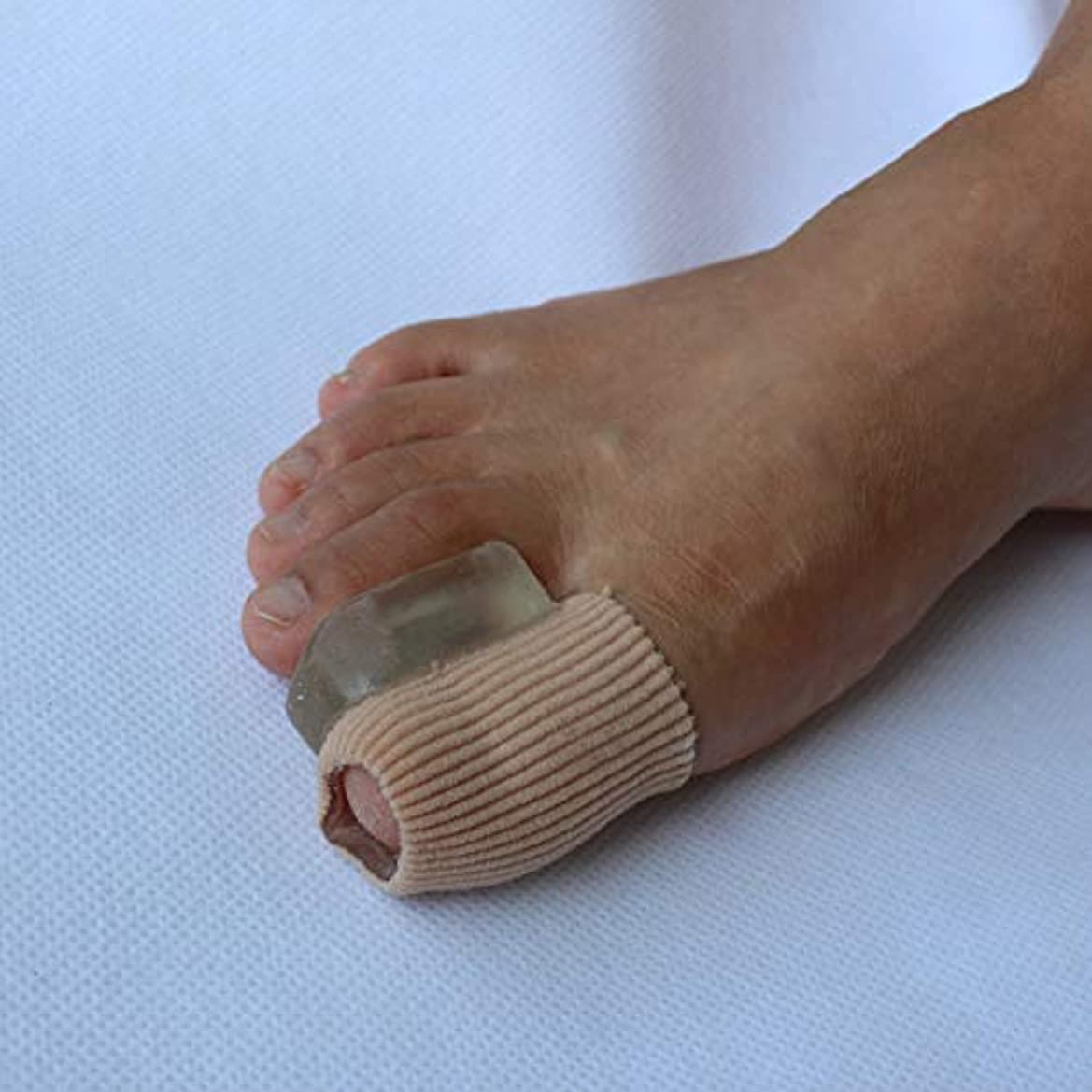 存在月曜日ストレスの多いGel Toe Separators Bunion Corrector for Overlapping Toe Fabric Toe Spacers with Soft Gel Lining for Hallux Valgus