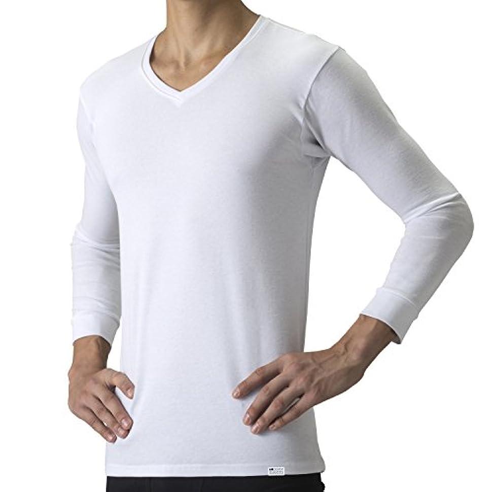 ラメ硬化する不足デオエストウォーム 消臭アンダーシャツ?Vネック(八分袖) ホワイト L