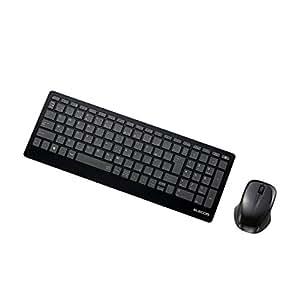 エレコム ワイヤレスキーボード マウス付 薄型 1000万回高耐久 TK-FDP071MBK