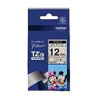 ブラザー工業 TZeテープ ディズニーテープ(ベビーミッキーイエロー/黒字) 12mm TZe-DL31