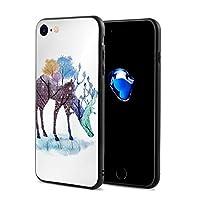 ジョイスウォール 塗装 ギフト 鹿 IPhone 7 / IPhone 8超薄型キャリングケースフルプロテクションプリントiPhone 7/8ポピュラーキャリングケース携帯ケーiPhone7/8オスメスユニバーサル