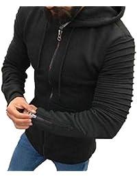 gawaga メンズカジュアルロングスリーブジャケットパーカージッパーは、トレーナーをスウェットシャツ