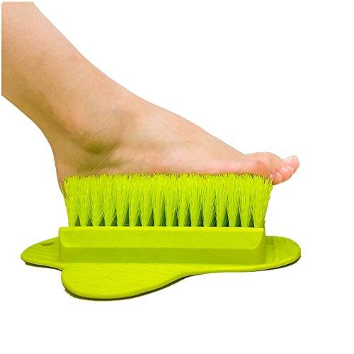 吸盤式足洗いブラシ 足裏マッサージブラシ 足裏洗いブラシ 足...