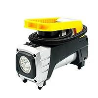 perfk エアコンプレッサー ポータブル タイヤ 自動車空気圧縮機ポンプ 12V ポータブル空気圧縮機 高品質
