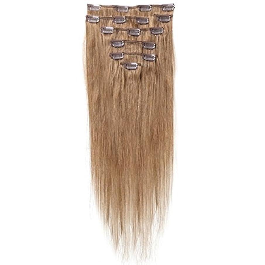アクティブリルジャズSODIAL 女性の人間の髪 クリップインヘアエクステンション 7件 70g 20インチ キャメルブラウン