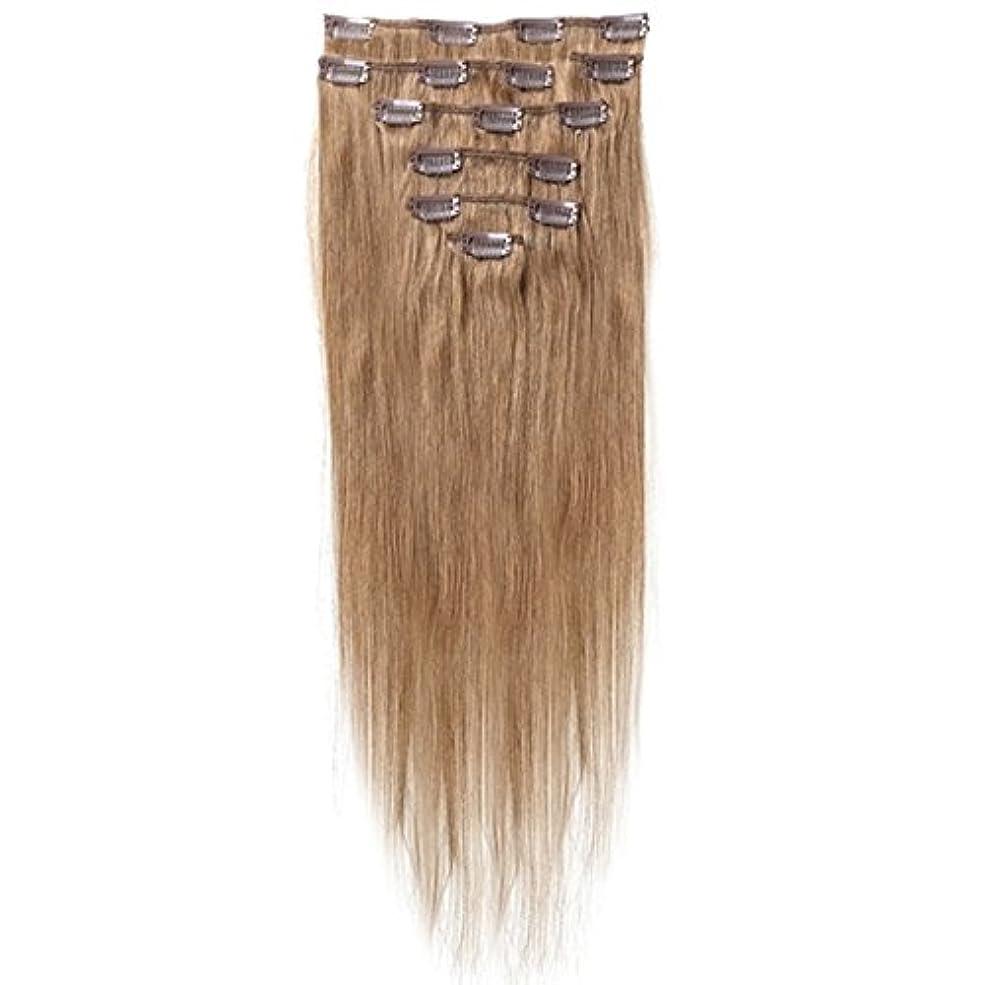 スポーツマンライフル正当化するSODIAL 女性の人間の髪 クリップインヘアエクステンション 7件 70g 20インチ キャメルブラウン