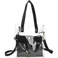 Women's Jelly Handbag Beach Bag PVC Clear Tote Bag Crossbody Bag Shoulder Bag