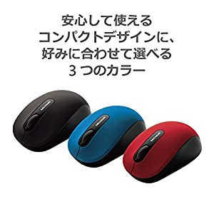 マイクロソフト マウス Bluetooth対応/ワイヤレス/小型 ブラック Bluetooth Mobile Mouse 3600 PN7-00007