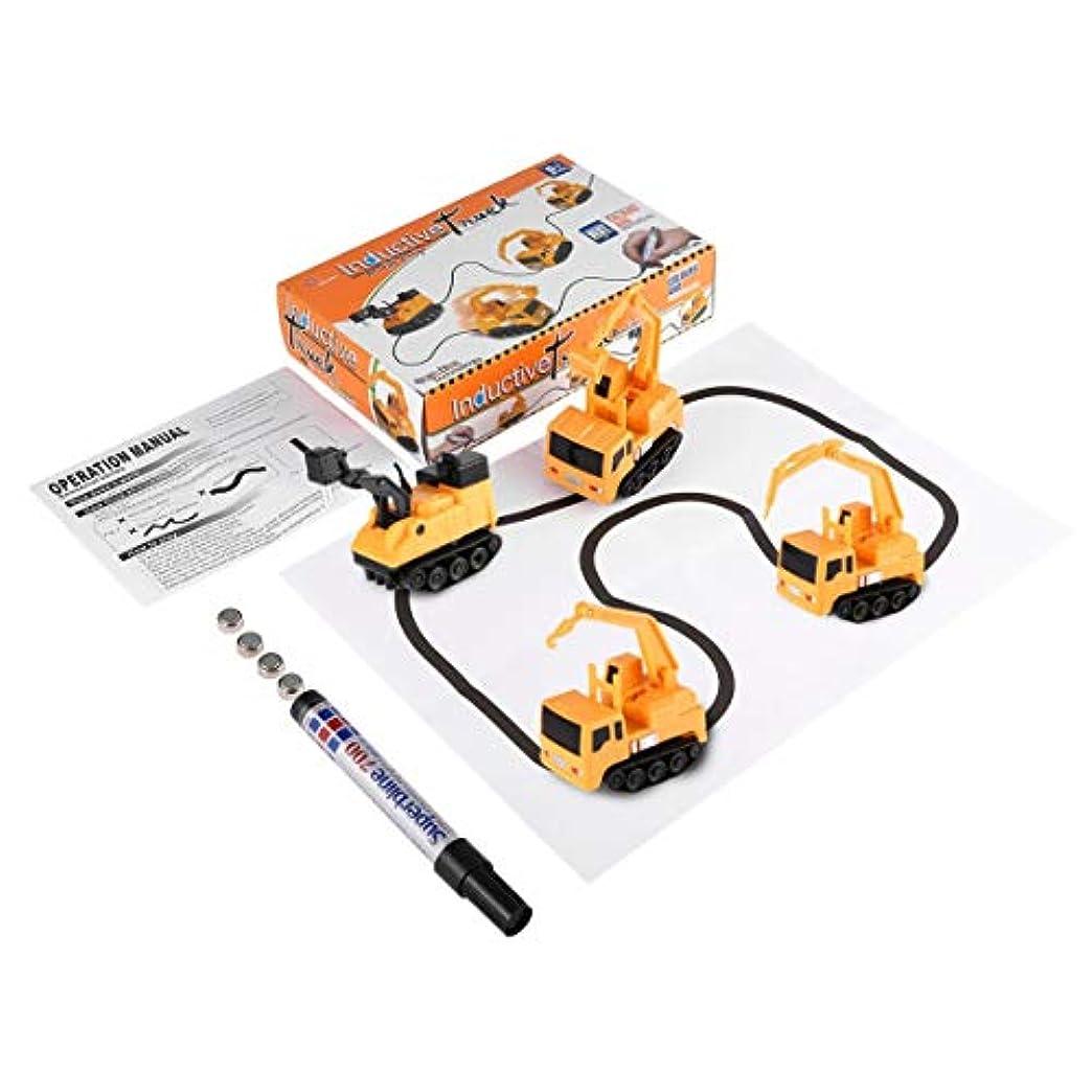 解明失態ディスパッチ1個マジックミニペン自動誘導性おもちゃの車のモデルシリーズパズル子供の子供たちのための任意の引き出し線のおもちゃに従ってください