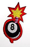【ノーブランド品】変形 8ボール 爆弾 アイロン ワッペン 刺繍 パッチ ワッペン