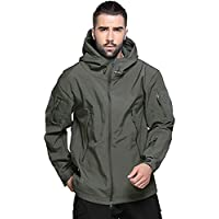Top Greener Mens Jacket Waterproof Windbreaker Soft Shell Lightweight Casual Work Coat